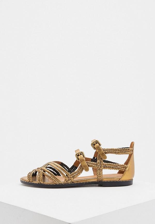 женские сандалии see by chloe, коричневые