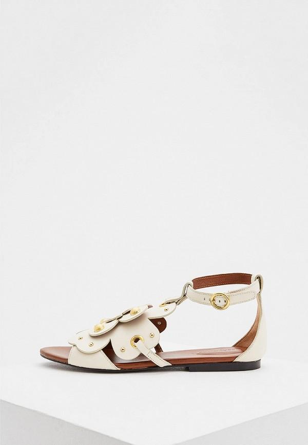 женские сандалии see by chloe, бежевые