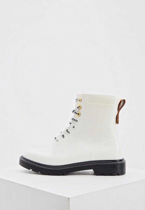 женские высокие ботинки see by chloe, белые