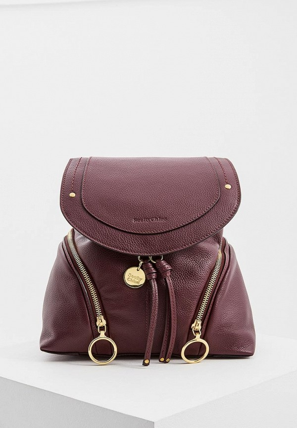 женский рюкзак see by chloe, бордовый