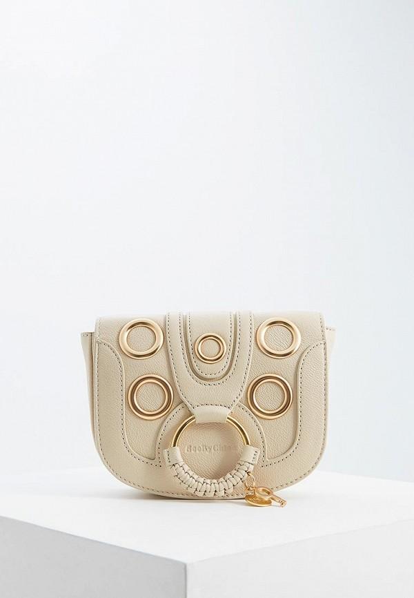 женская сумка see by chloe, бежевая