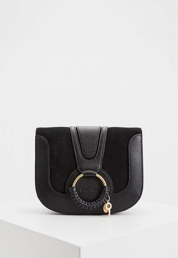 женская сумка через плечо see by chloe, коричневая