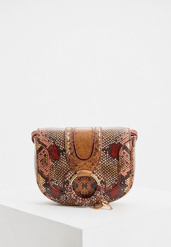 женская сумка через плечо see by chloe, разноцветная