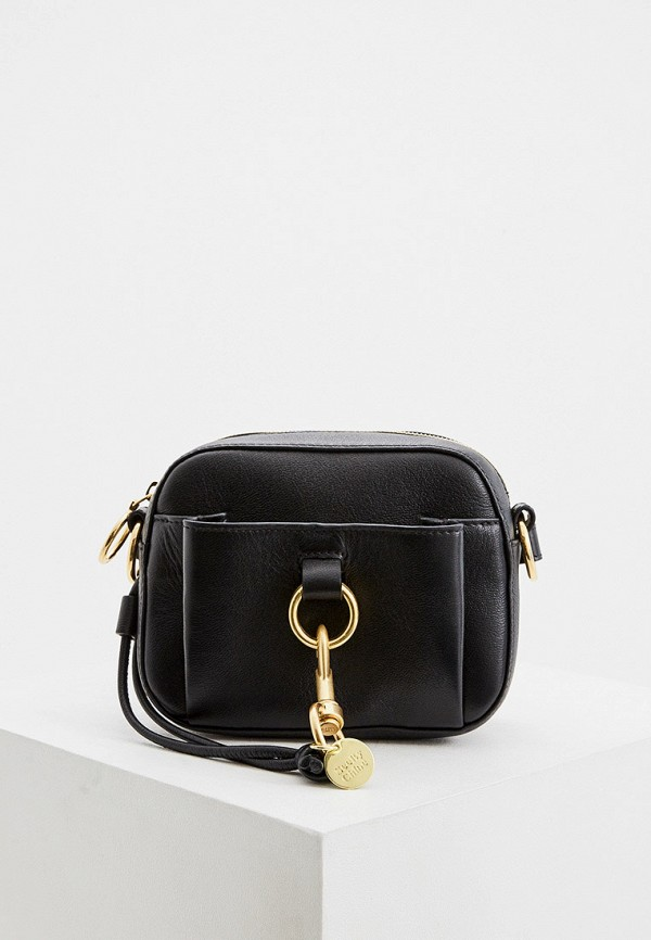 женская сумка see by chloe, черная