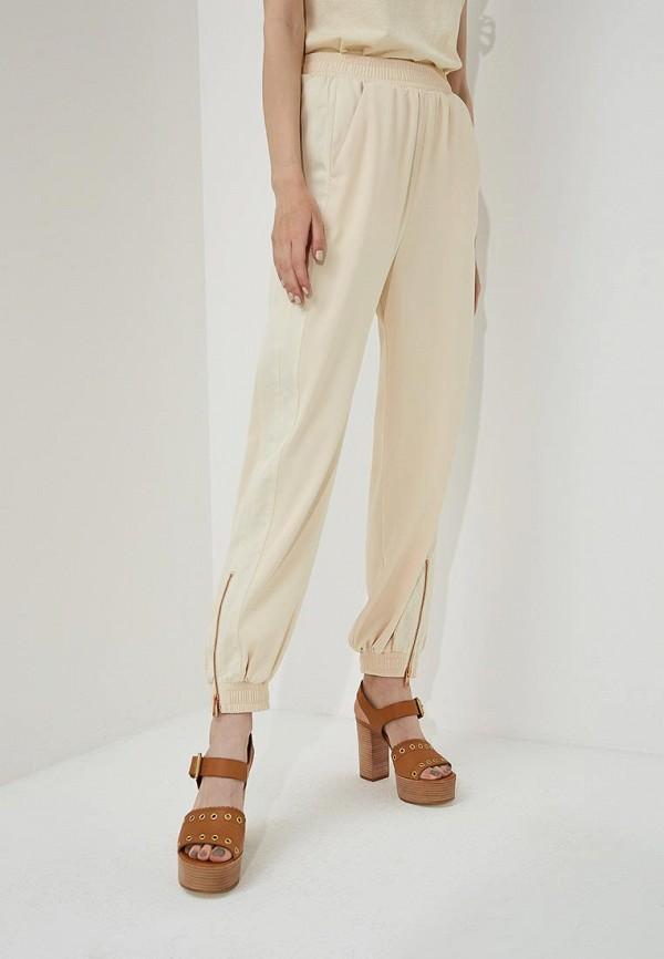 женские брюки клеш see by chloe, бежевые