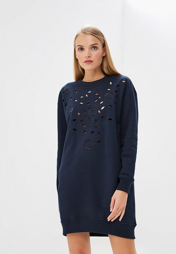 Платье See by Chloe See by Chloe SE011EWBORU4 flare sleeves lace see through blouse
