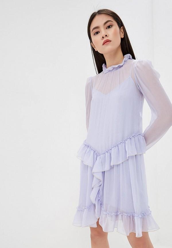 женское повседневные платье see by chloe, фиолетовое