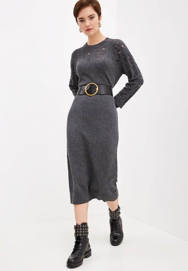 женское платье see by chloe, серое