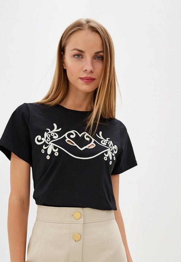 женская футболка see by chloe, черная