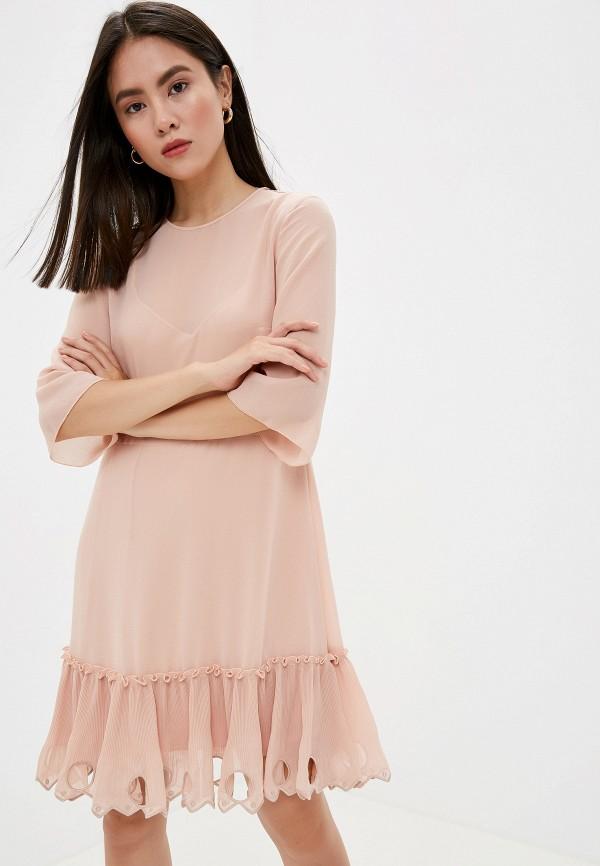 женское платье see by chloe, розовое