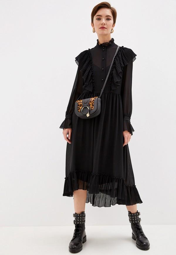 женское вечерние платье see by chloe, черное