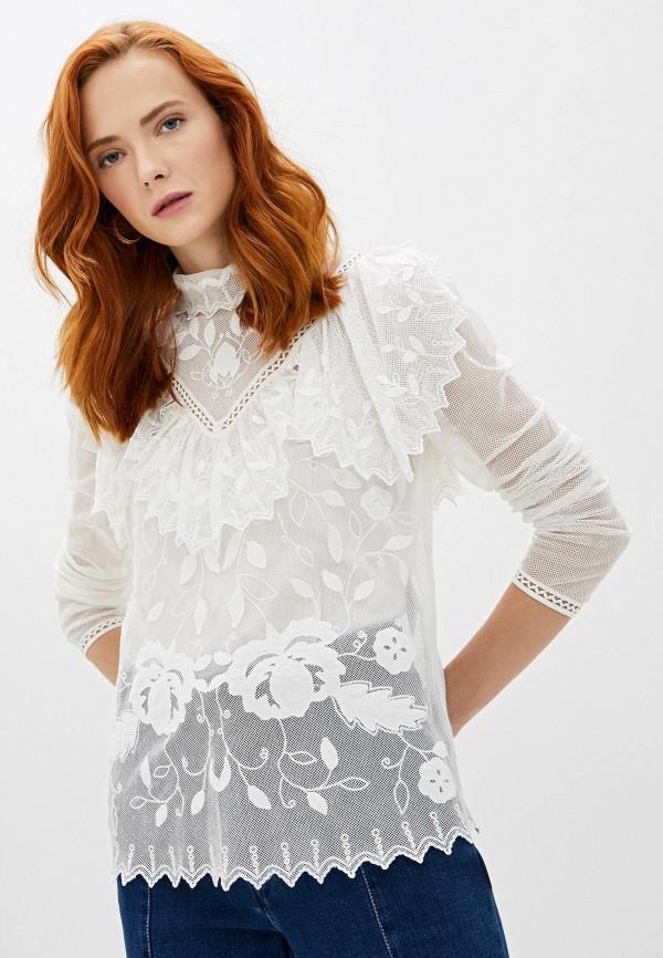 женская кружевные блузка see by chloe, белая