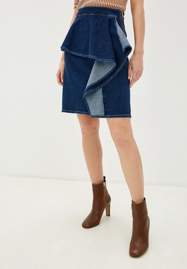 женская юбка see by chloe, синяя