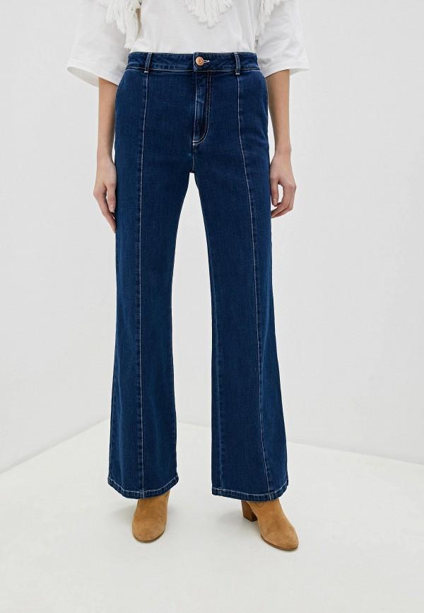 женские джинсы клеш see by chloe, синие