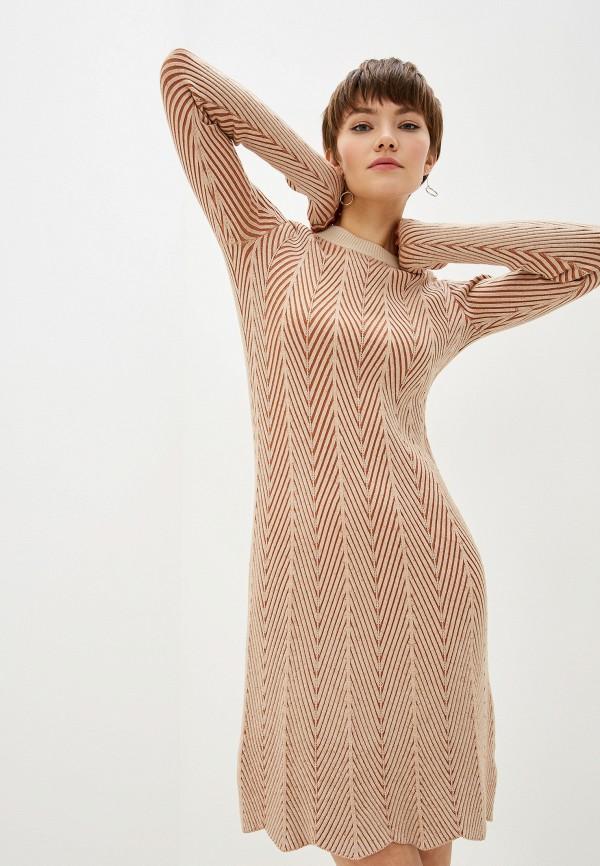 женское повседневные платье see by chloe, бежевое