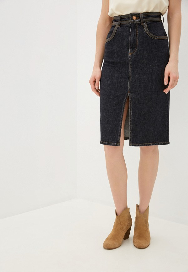 женская джинсовые юбка see by chloe, серая