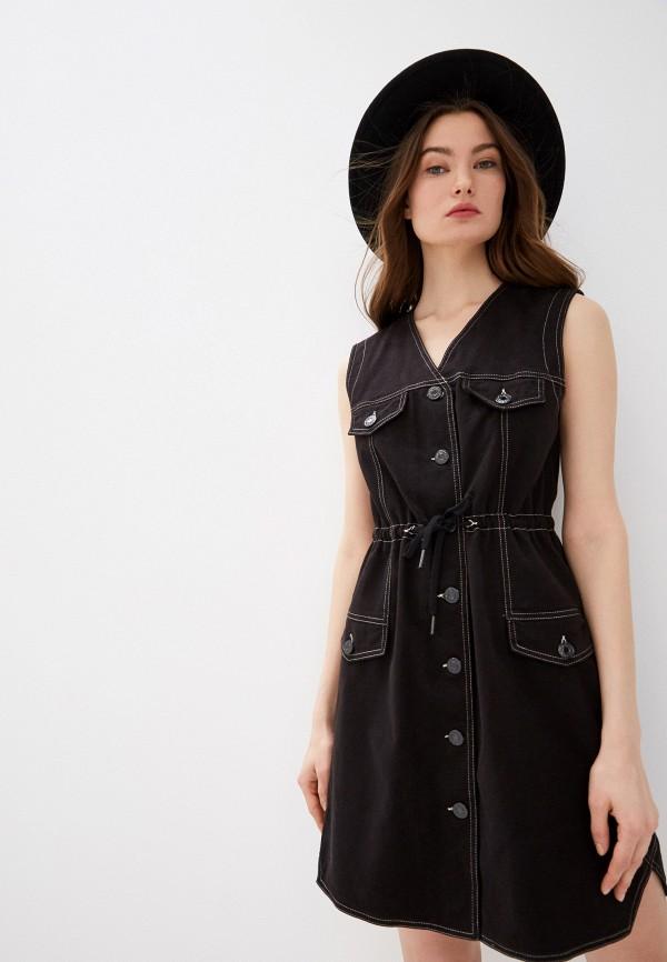 женское джинсовые платье see by chloe, черное