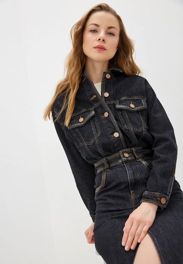 женская джинсовые куртка see by chloe, синяя