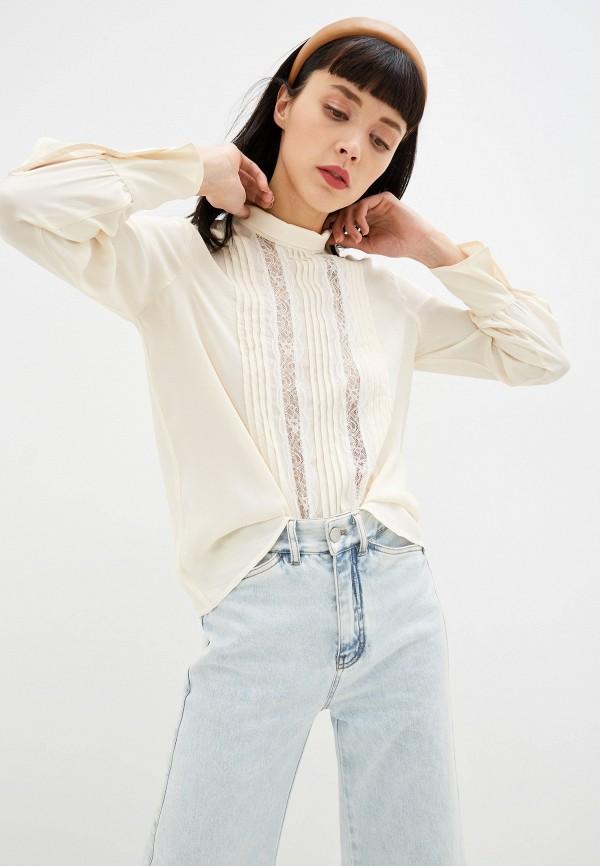 женская блузка с длинным рукавом see by chloe, белая