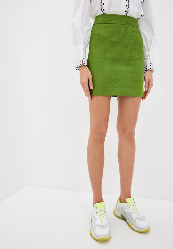 женская юбка мини see by chloe, зеленая