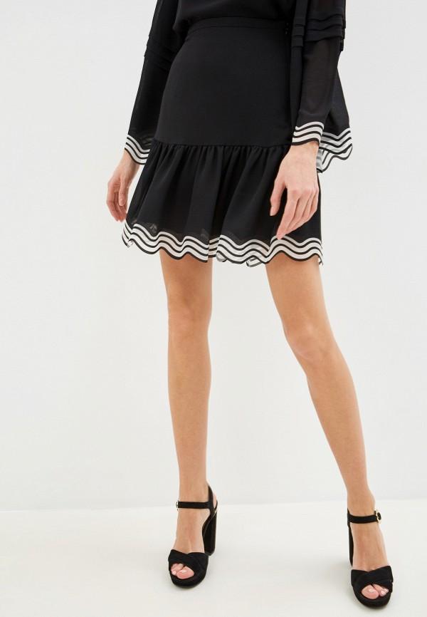 женская юбка-трапеции see by chloe, черная