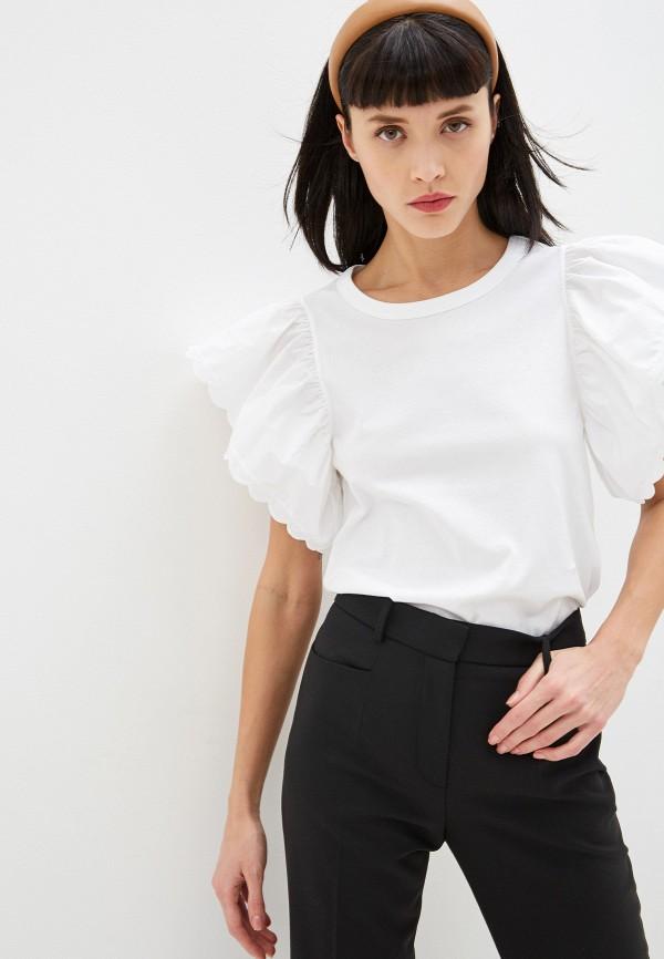 женская футболка see by chloe, белая
