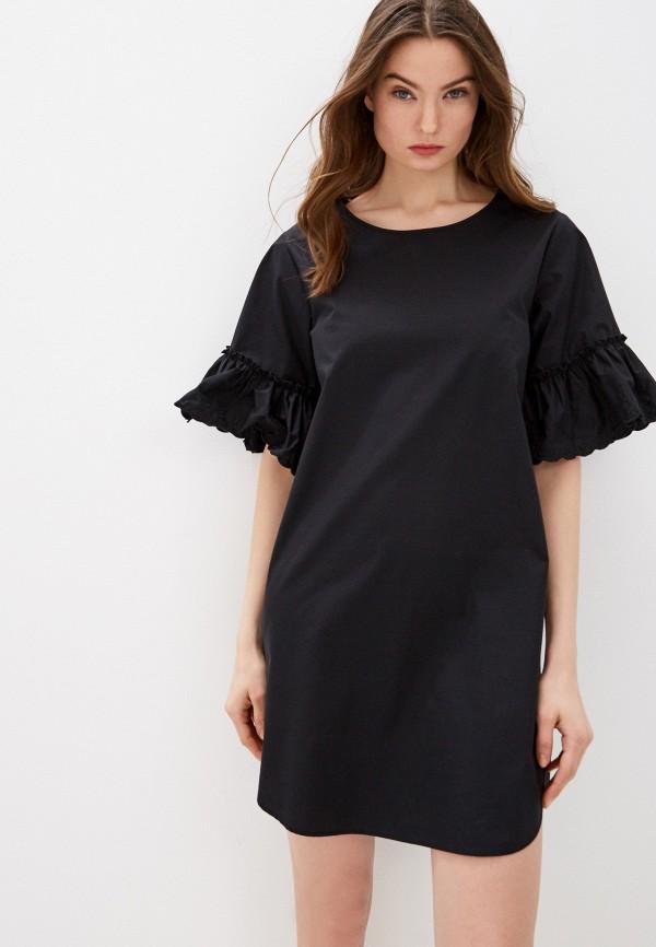 женское повседневные платье see by chloe, черное