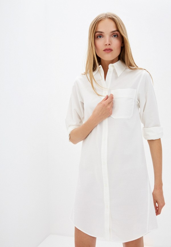 женское платье-рубашки see by chloe, белое