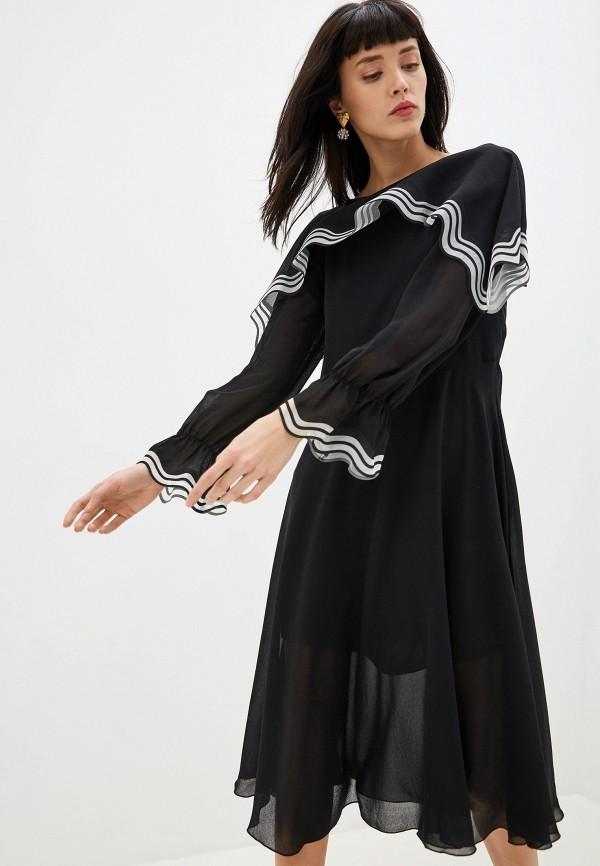 женское платье мини see by chloe, черное