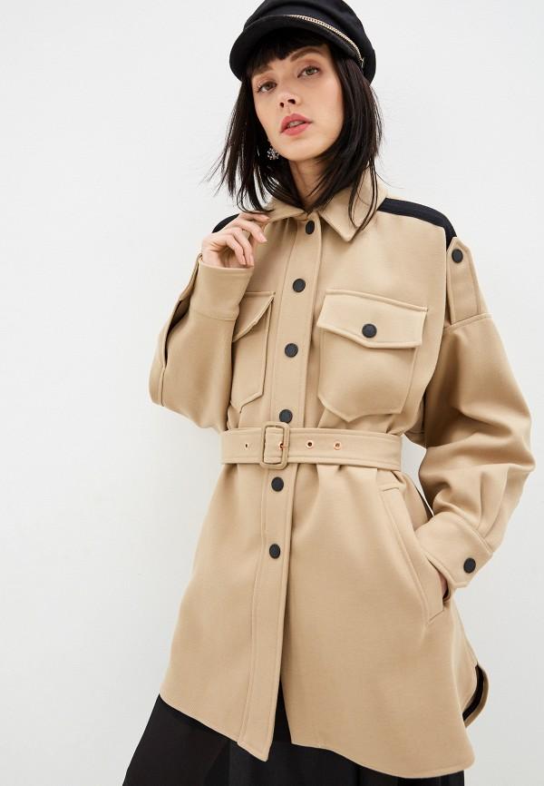 женское пальто see by chloe, бежевое