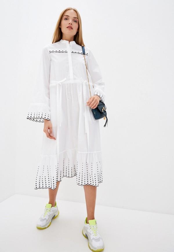 женское платье мини see by chloe, белое
