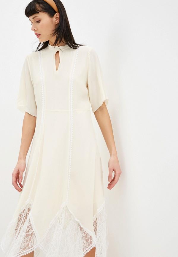 женское платье миди see by chloe, разноцветное