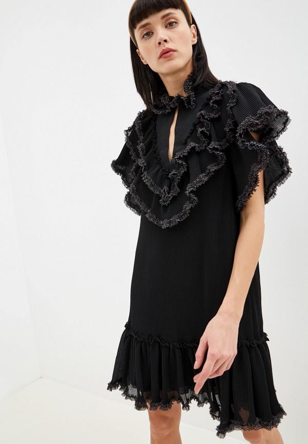 женское платье миди see by chloe, черное