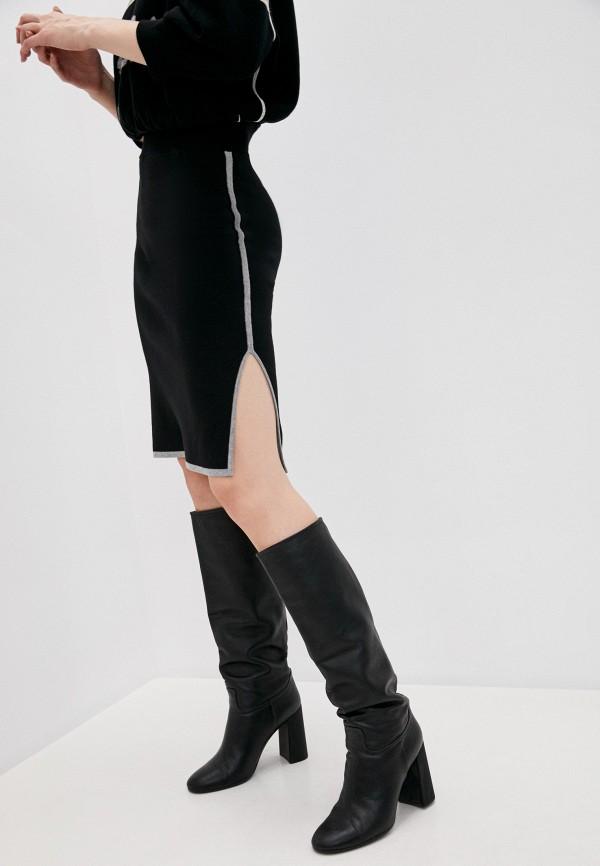 женская прямые юбка see by chloe, черная