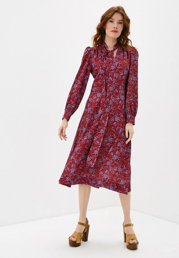 женское повседневные платье see by chloe, бордовое