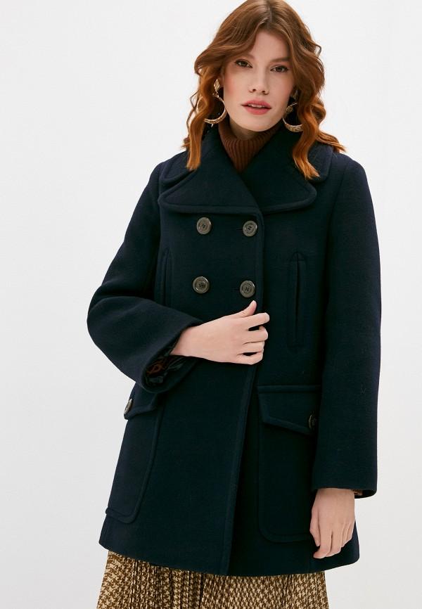 женское пальто see by chloe, синее
