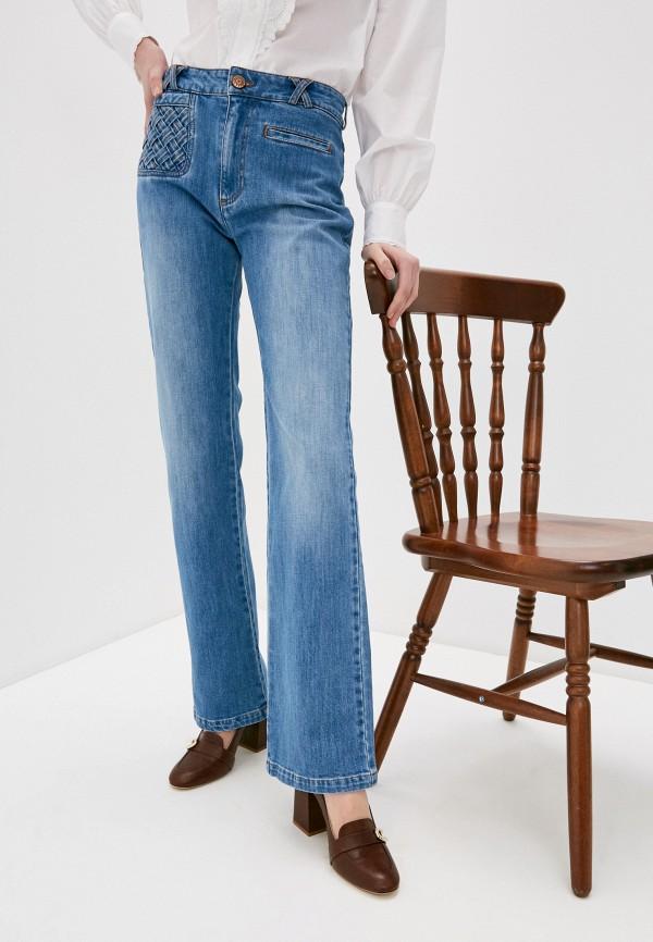 женские джинсы клеш see by chloe, голубые