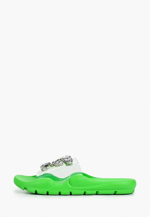 женское сабо sergio todzi, зеленое