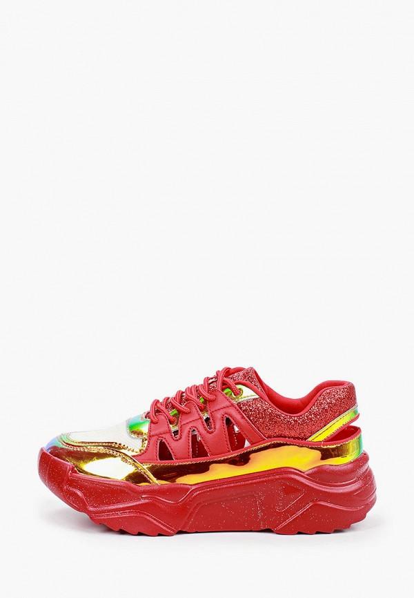 женские низкие кроссовки sergio todzi, красные