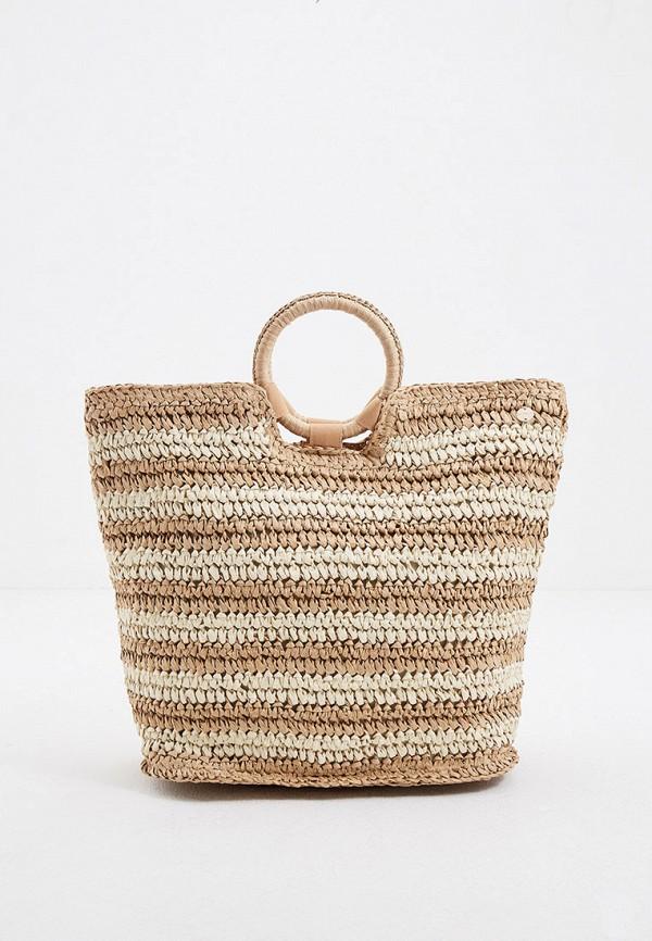 женская пляжные сумка seafolly australia, бежевая