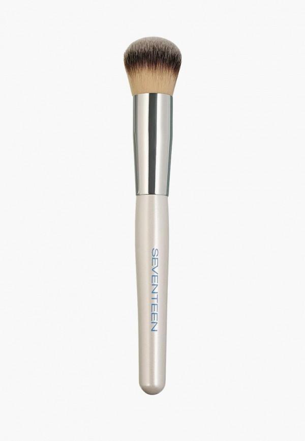 Купить Кисть для лица Seventeen, Foundation brush, se039lwavht9, серебряный, Весна-лето 2019