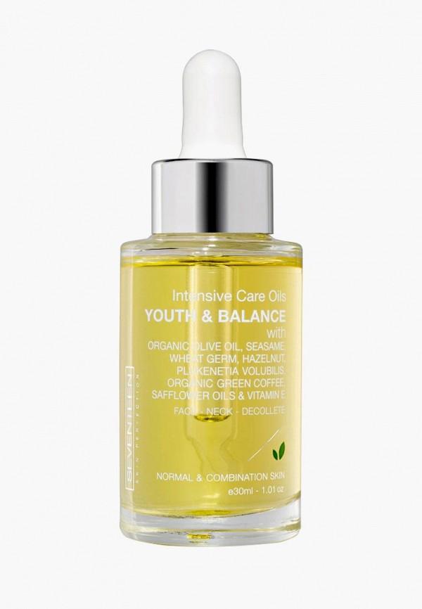 Купить Масло для лица Seventeen, для интенсивного ухода Intensive care oils youth and balance 30 мл., se039lwcmpw4, прозрачный, Осень-зима 2018/2019