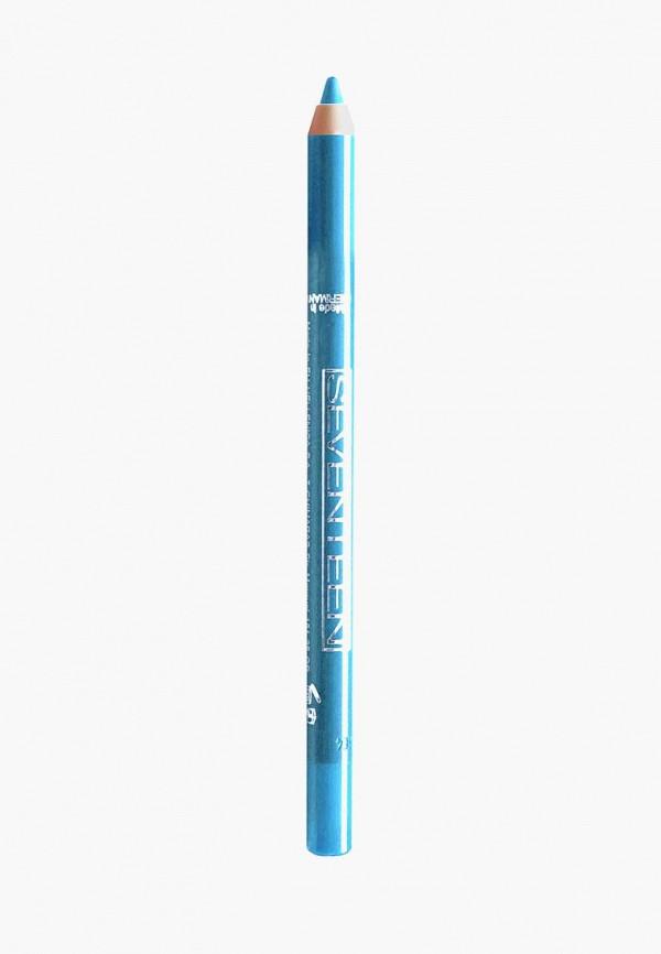 карандаш для глаз seventeen, бирюзовый