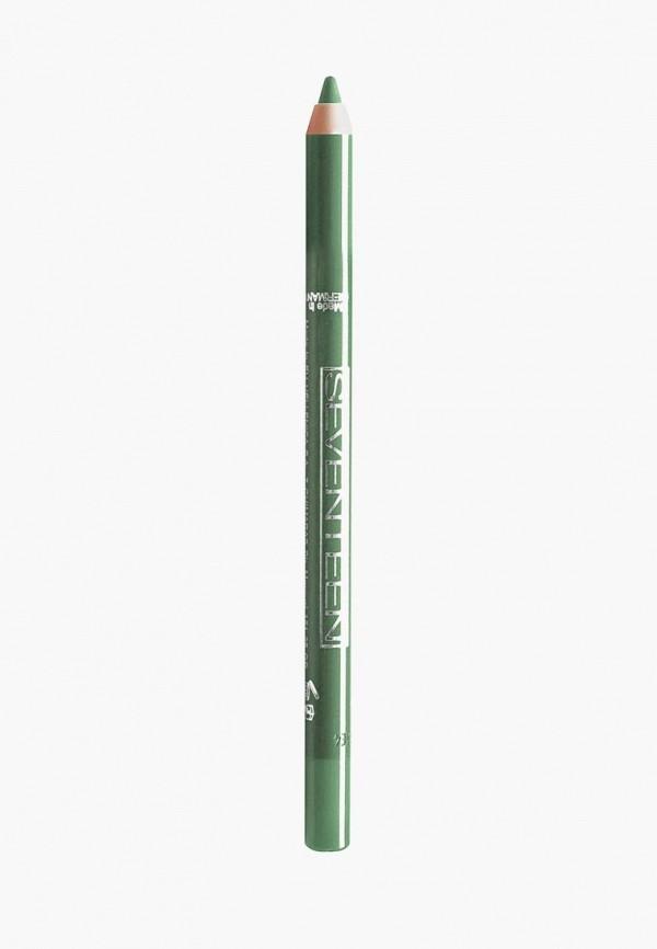 карандаш для глаз seventeen, зеленый