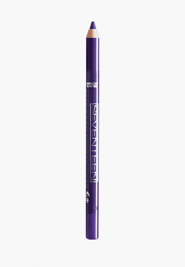 карандаш для глаз seventeen, фиолетовый