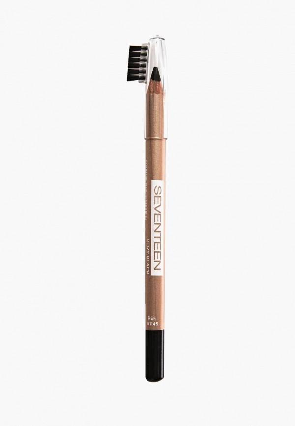 Карандаш для бровей Seventeen Seventeen SE039LWUWY26 карандаш для бровей lumene nordic chic extreme precision eyebrow pencil 4 цвет 4 коричневый variant hex name 271c1a