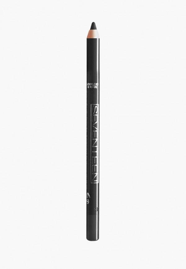карандаш для глаз seventeen, черный