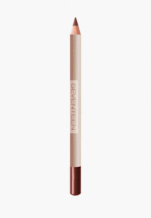 карандаш для губ seventeen, розовый