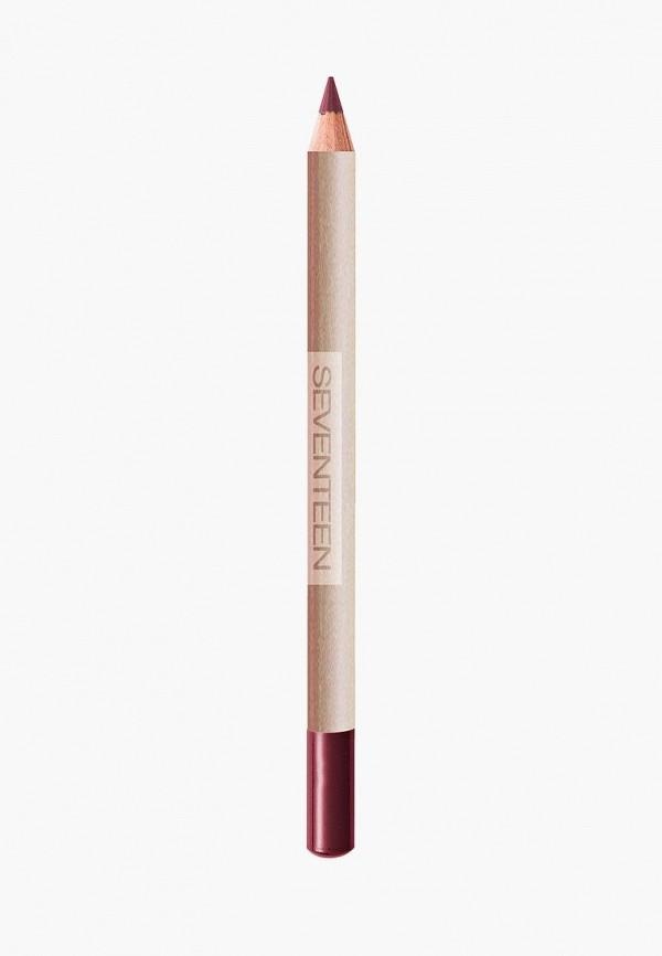 карандаш для губ seventeen, бордовый