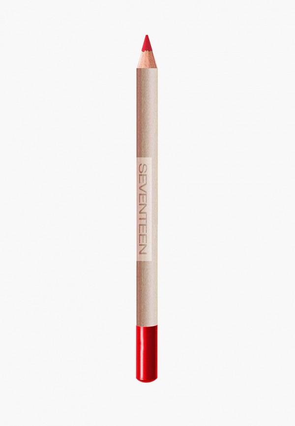 карандаш для губ seventeen, красный